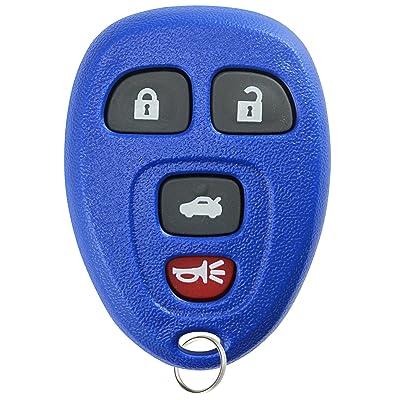 KeylessOption Keyless Entry Remote Control Car Key Fob Replacement for 15252034 -Blue: Automotive