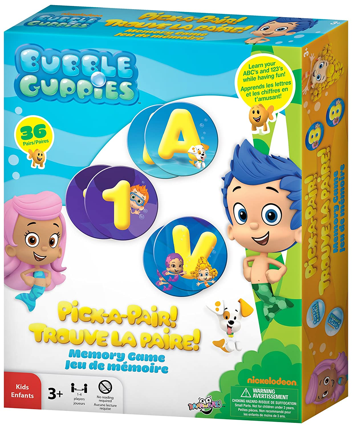 Uncategorized Memory Pairs amazon com bubble guppies pick a pair memory game toys games