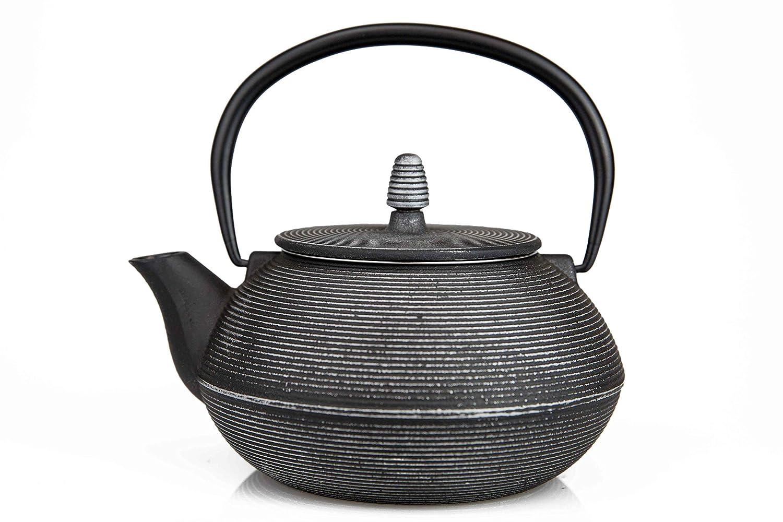 27 Oz Cast Iron Teapot/Japanese Tetsubin Teakettle with Stainless Steel Infuser/Enamel Coated Interior Enchante Direct