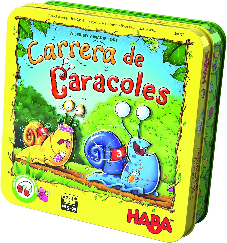 HABA-Juego de Mesa, ¡Carrera de Caracoles, Multicolor (Habermass ...