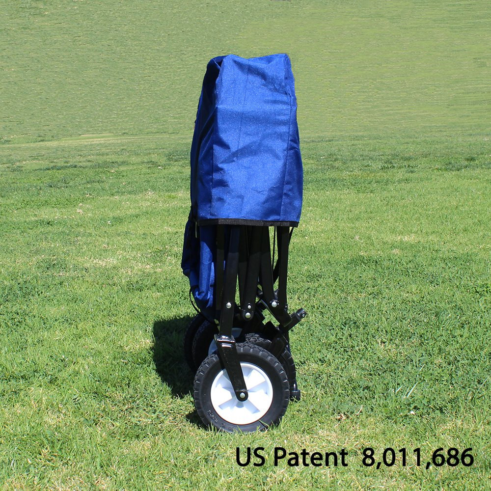EasyGo Wagon Folding Collapsible Utility Fits in Trunk of Standard car Blue Blue EasygoProducts EGP-WGN-001-BLU