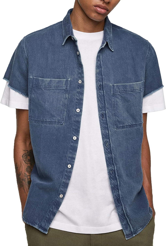 Zara 6917/500 - Camiseta de Manga Corta para Hombre - Azul ...