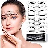 Skymore Eyebrow Ruler, 100Pcs Eyebrow Stencil Microblading Ruler, Disposable Eyebrow Template Eyebrow Ruler Sticker, Eyebrow