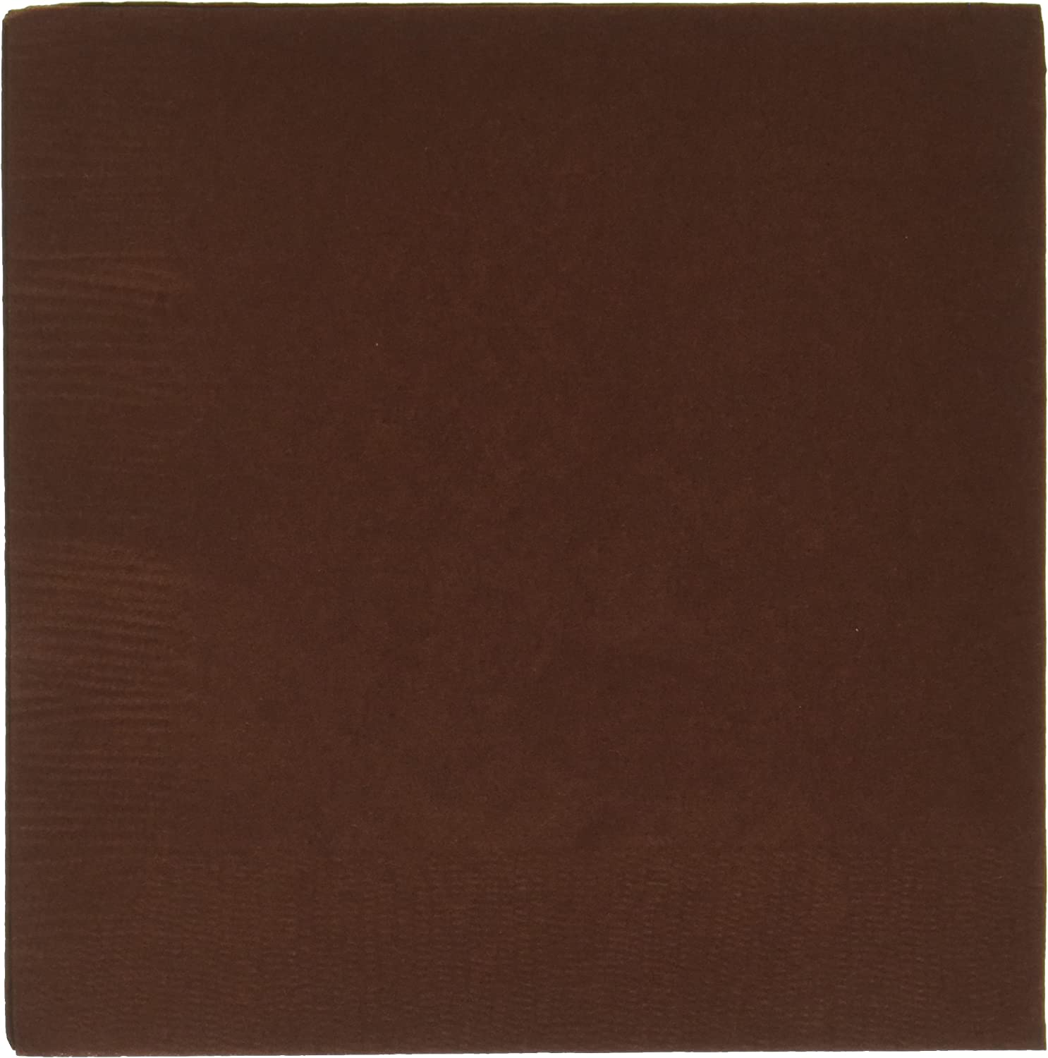 Chocolate Brown 2-Ply Beverage Napkins | Pack of 50 | Party Supply