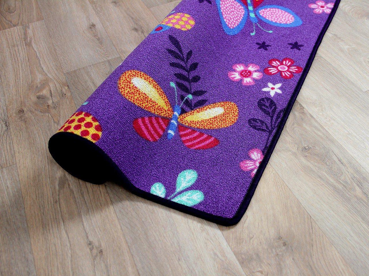 Snapstyle Kinder Spiel Teppich Schmetterling Lila in in in 24 Größen B00XMB79L2 Teppiche c2ee96