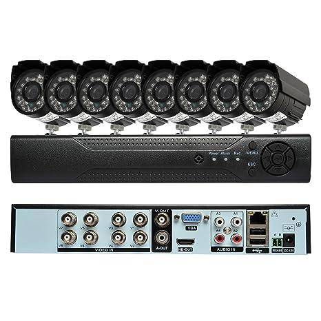 8 Juego de Vigilancia Cámara Supervisión Videovigilancia Vigilancia Seguridad Cámara Cloud 1080P HDMI con sensor de