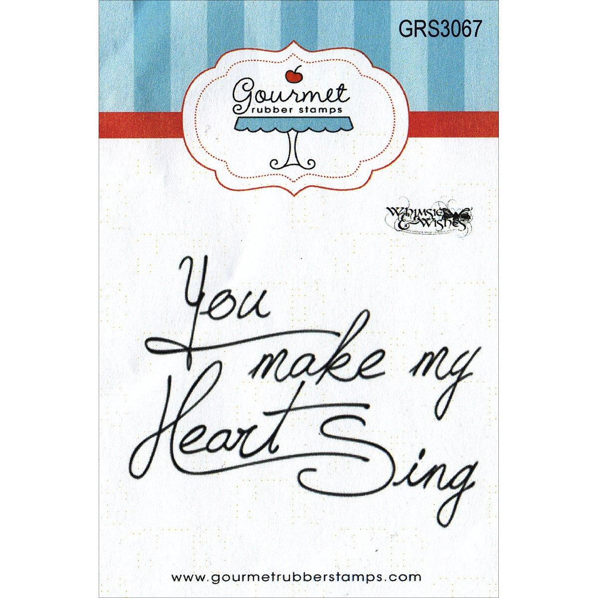 Gourmet Gummi Briefmarken selbst Briefmarken 2,75 Zoll X 4.75-inch-you Make My Heart Sing