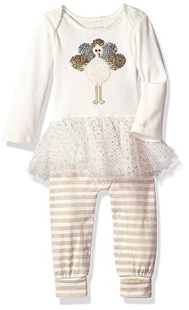 1e4d36e2281a Amazon.com  Mud Pie Baby Girls  Thanksgiving Turkey Tutu One-Piece  Playwear