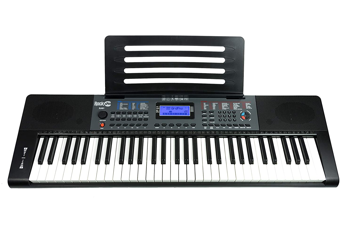 RockJam Portable Keyboard, 61 Key (RJ461)