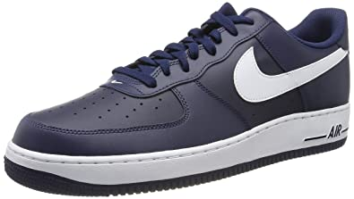 size 40 354df 65a42 Nike Men s Air Force 1 Basketball Shoes, Azul Blanco (Midnight White-Mid