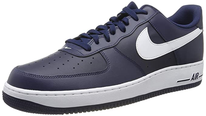 f1be69f9 Nike Men's Air Force 1 Basketball Shoes, Azul/Blanco (Midnight White-Mid