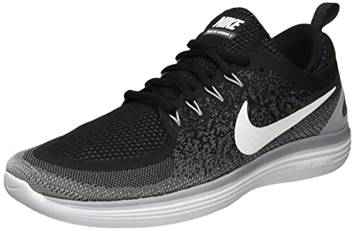 Nike Mens Free Rn Distance 2 Competition Running Shoes Black BlackCool  Grey