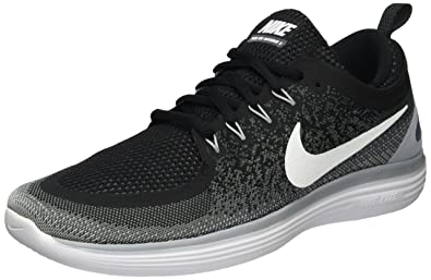 f8c7349cff379 Nike Mens Free RN Distance 2 Running Shoes Black Cool Grey Dark Grey 863775