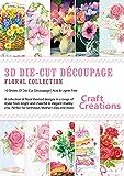 Craft Creations-Decoupage, motivo in 3D Collections-PK762 Floral Collection-Fogli A4, confezione da 10, immagini miste, con una varietà di Rose, pisello odoroso, motivo: tulipani e altri disegni A tema floreale