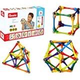 Goobi 70 Piece Construction Set with Instruction Booklet   STEM Learning   Assorted Rainbow colors