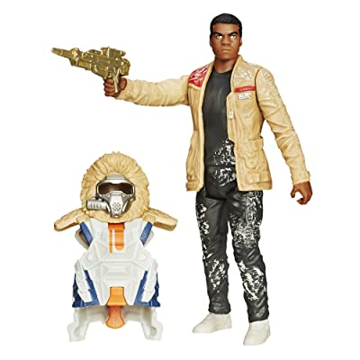 Star Wars The Force Awakens 3.75-Inch Figure Snow Mission Armor Finn (Starkiller Base): Toys & Games