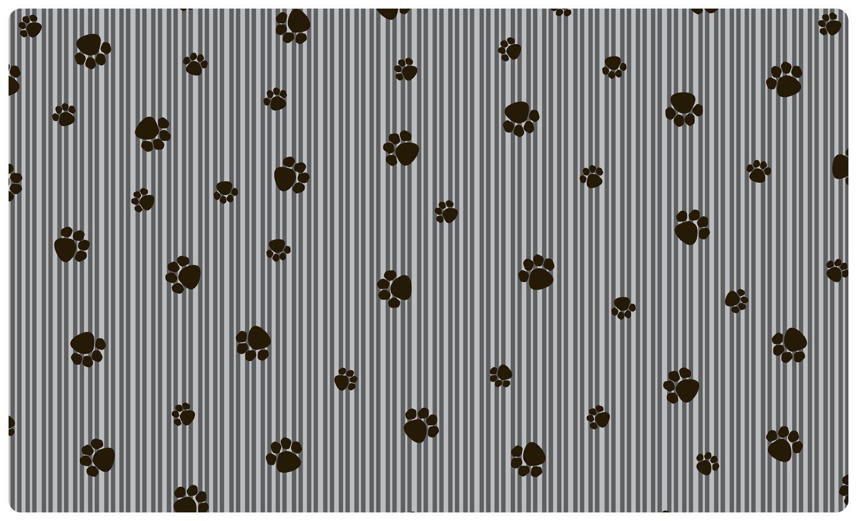 Drymate Small/Medium Pet Place Mat in Paw Stripe Design