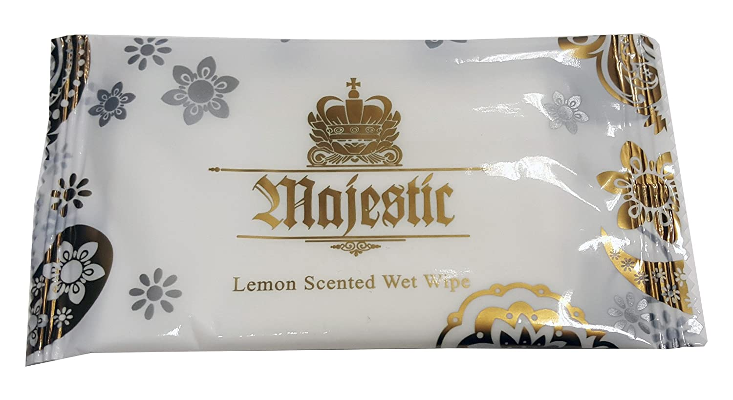 500 x Majestic Lemon Fresh Wet Hand Wipes Towels Hot Cold Individually Wrapped - Catering Restaurants Home Takeaways Hotels