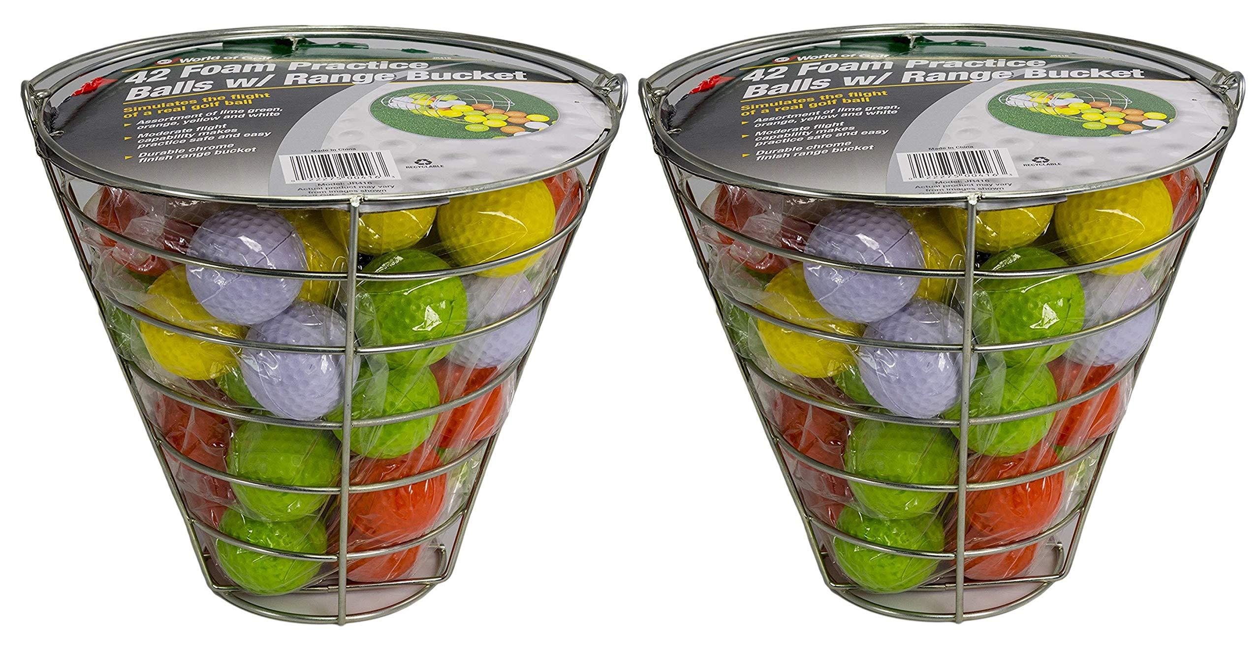 JEF WORLD OF GOLF Foam Practice Balls (42 Multi-Colored Balls) (2-(Pack of 42))