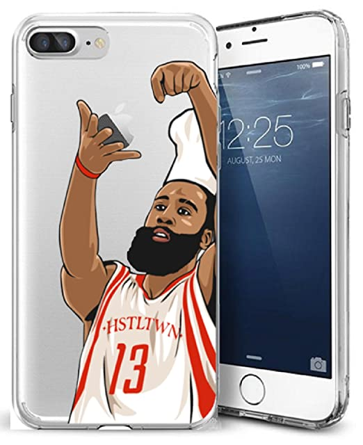 watch 0676f 7e0db iPhone 7 Plus Case, Chrry Cases Ultra Slim [Crystal Clear] [NBA Player]  Soft Transparent TPU Case Cover for Apple iPhone 7 Plus (5.5) - CHEF HARDEN