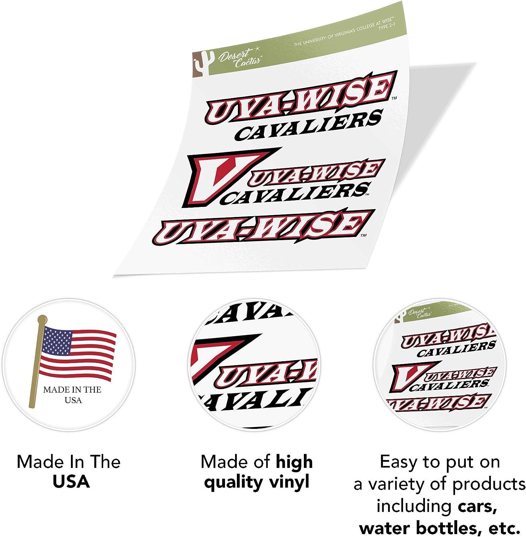 Type 2 Sheet University of Virginias College at Wise Cavaliers NCAA Sticker Vinyl Decal Laptop Water Bottle Car Scrapbook