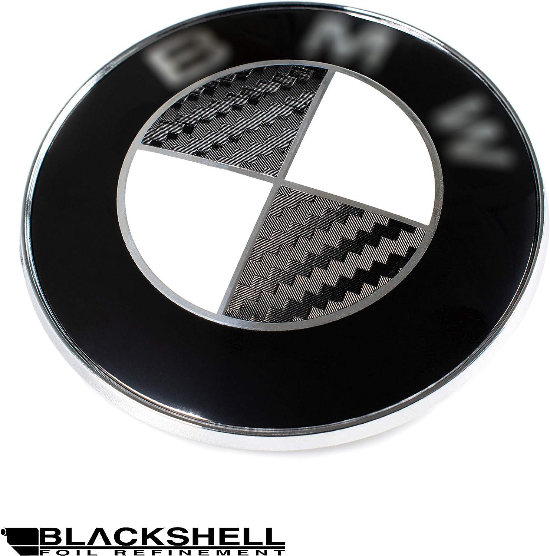 Blackshell Emblem Aufkleber 74 Tlg Set Für Alle Embleme Am Auto In 3d Carbon Schwarz Auto