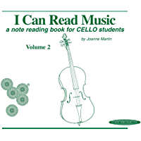 I Can Read Music, Volume 2: A note reading book for CELLO students book cover