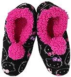 Hello Kitty Girls 7-16 Slipper Sock, Black, Large