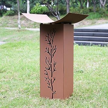 WilTec Colonne pour Plantes en métal rouillé Décoration ...