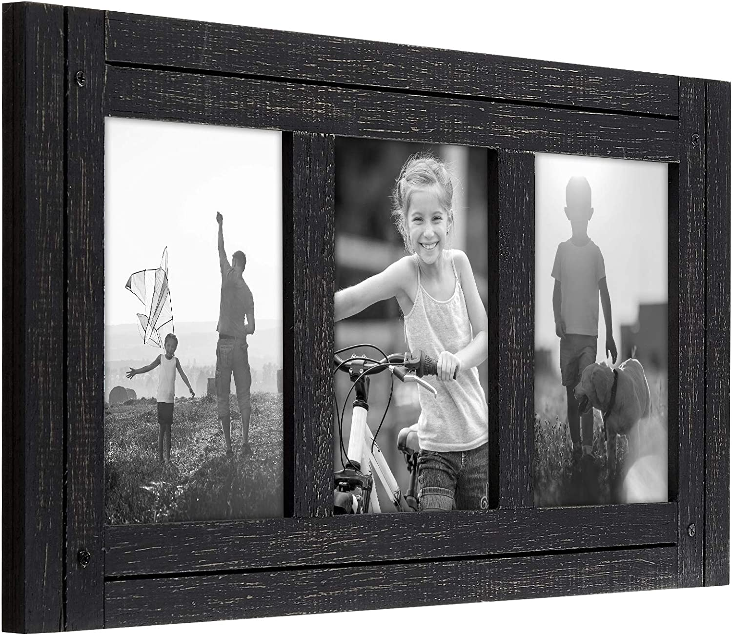 Americanflat Picture Frame in Black with Gold Trim and Lead Free Polished Glass