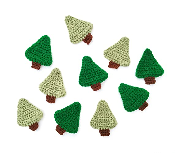 Amazoncom Crochet Christmas Tree Appliqué Craft Supply Set Of 2