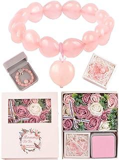 Amazon.com: Cuarzo Rosa Baby Enlace Pulsera por fácil ...
