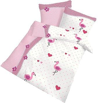 Flamingo Baby Mädchen Bettwäsche Babybettwäsche Kinderbettwäsche