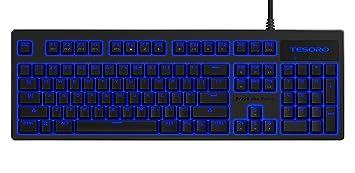 "Tesoro TS de g7nl Brown Excalibur V2 Teclado mecánico y LED Azules""American ("