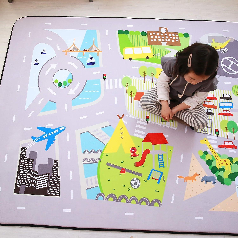 Urlaub 150 x 200 cm USTIDE Anti-Rutsch-Baby-Matte Bodenteppich 5 0 x 6 6 Memory-Foam Baby-Spielmatte aus Memory-Schaum Lernteppich