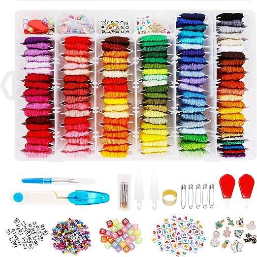 Hilo de bordar, 120 colores, incluye kit de bordado de hilo ...