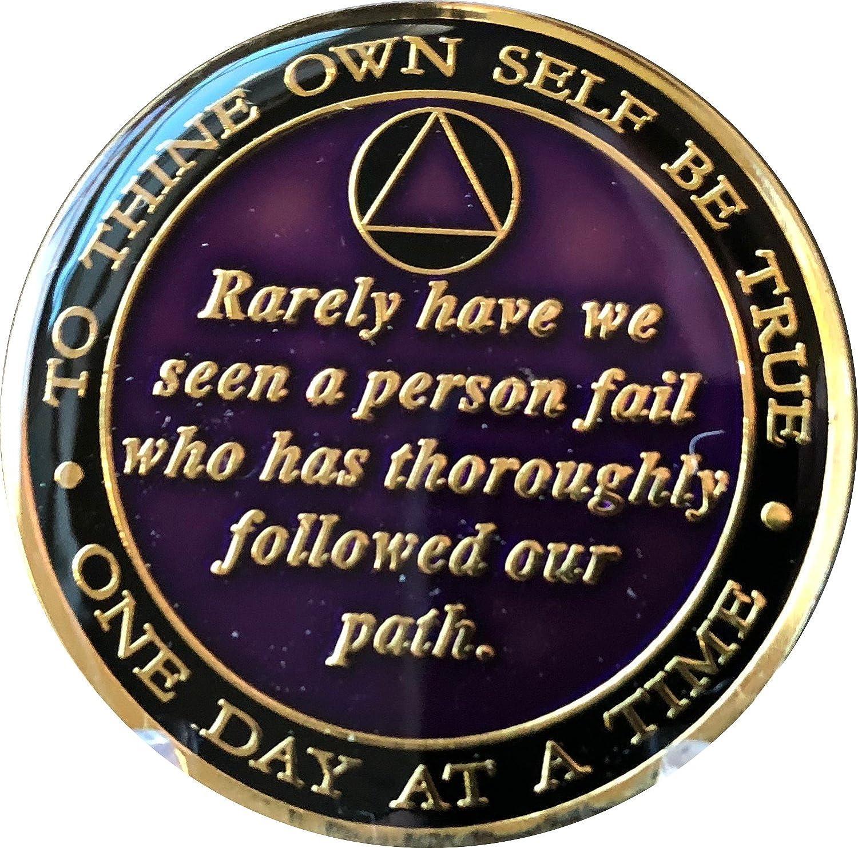 11 Year AA Medallion Purple Tri-Plate Founders Bill /& Bob Chip XI