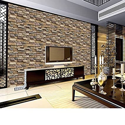 Wall Stickers Qualified 2019 Latest Style 3d Self-adhesive Wallpaper For Living Room Library Wall Decoration Waterproof Modern Fashion Home Decor Decal Home & Garden