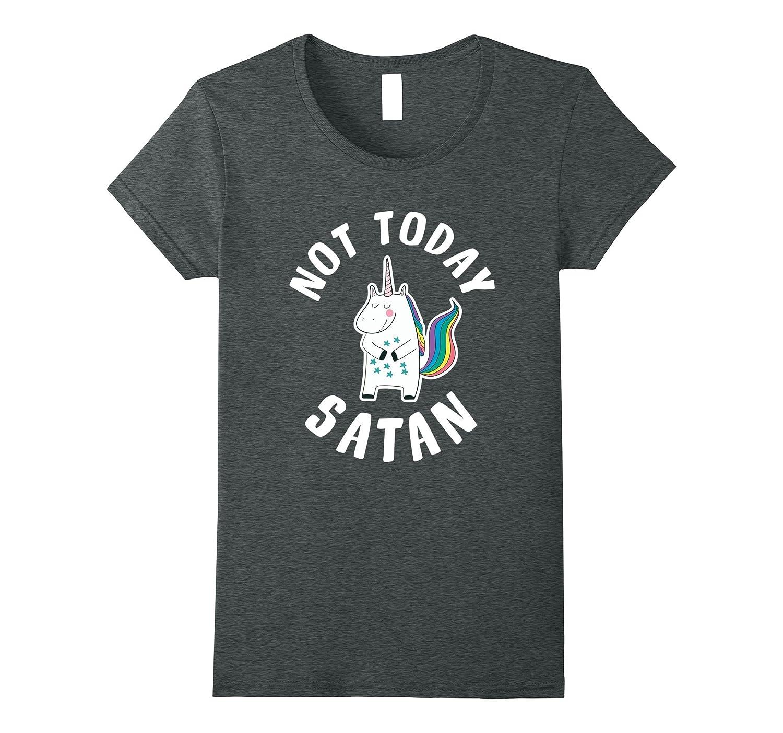Mens Not Today Satan T Shirt-Teechatpro