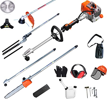 Pole Saw Pruner Chainsaw Gas Powered Tree Trimming Gardening Equipment Safe New