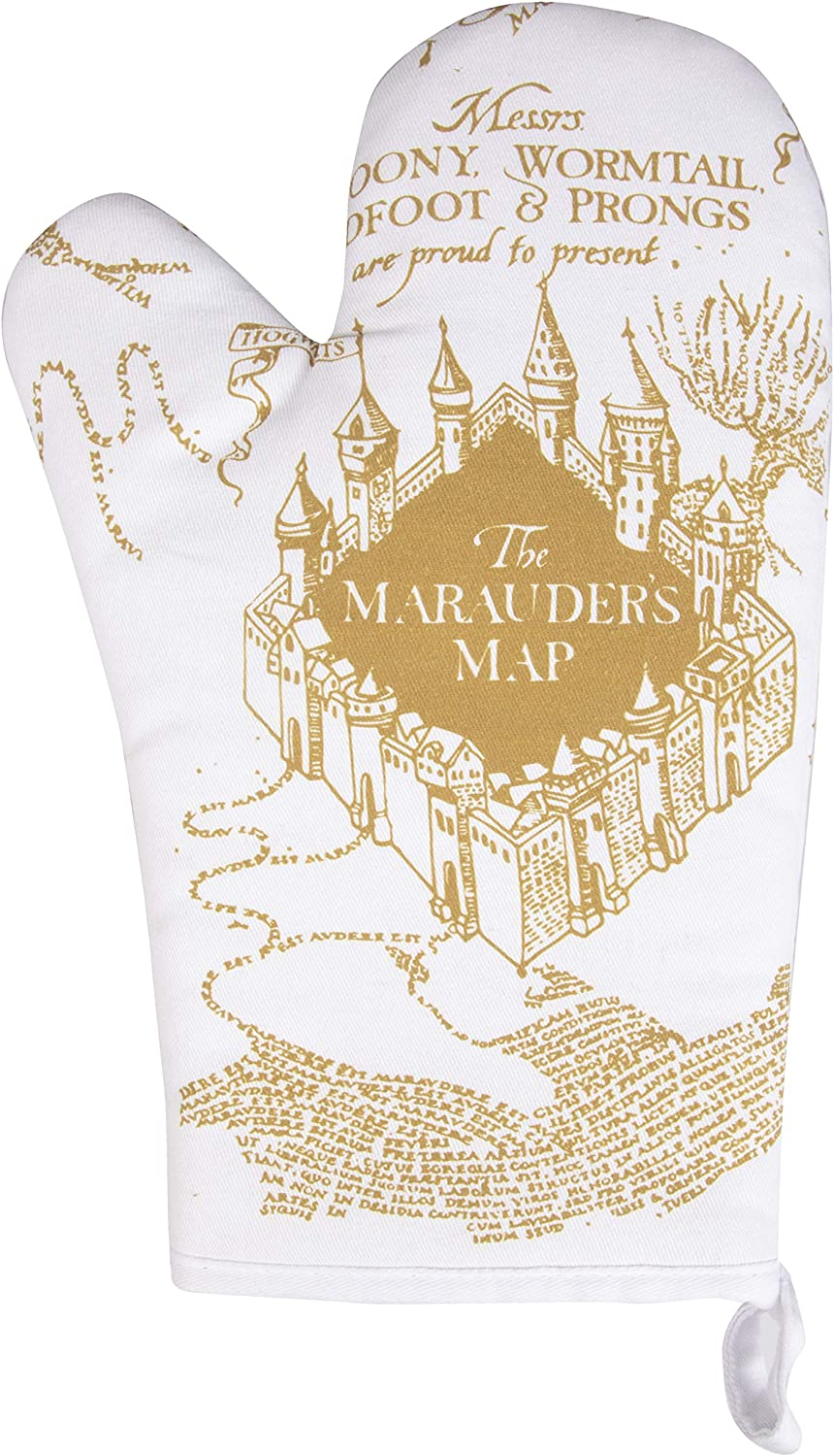 Harry Potter Marauder's Map Oven Mitt - Heat Resistant - 100% Cotton - Right Hand