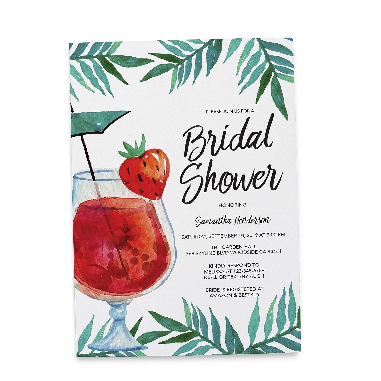 Amazon.com: Tropical, Brunch Bridal Shower Personalize Bridal Shower ...