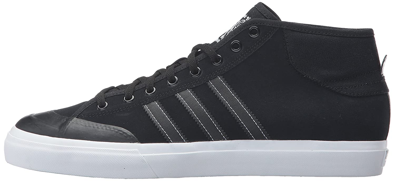 Adidas Originals Men's Matchcourt Mid Mid Mid Skate schuhe, schwarz schwarz Weiß, 8 Medium US 382636