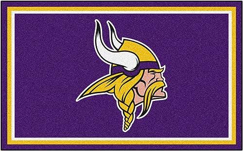 FANMATS NFL Minnesota Vikings Nylon Face 4X6 Plush Rug