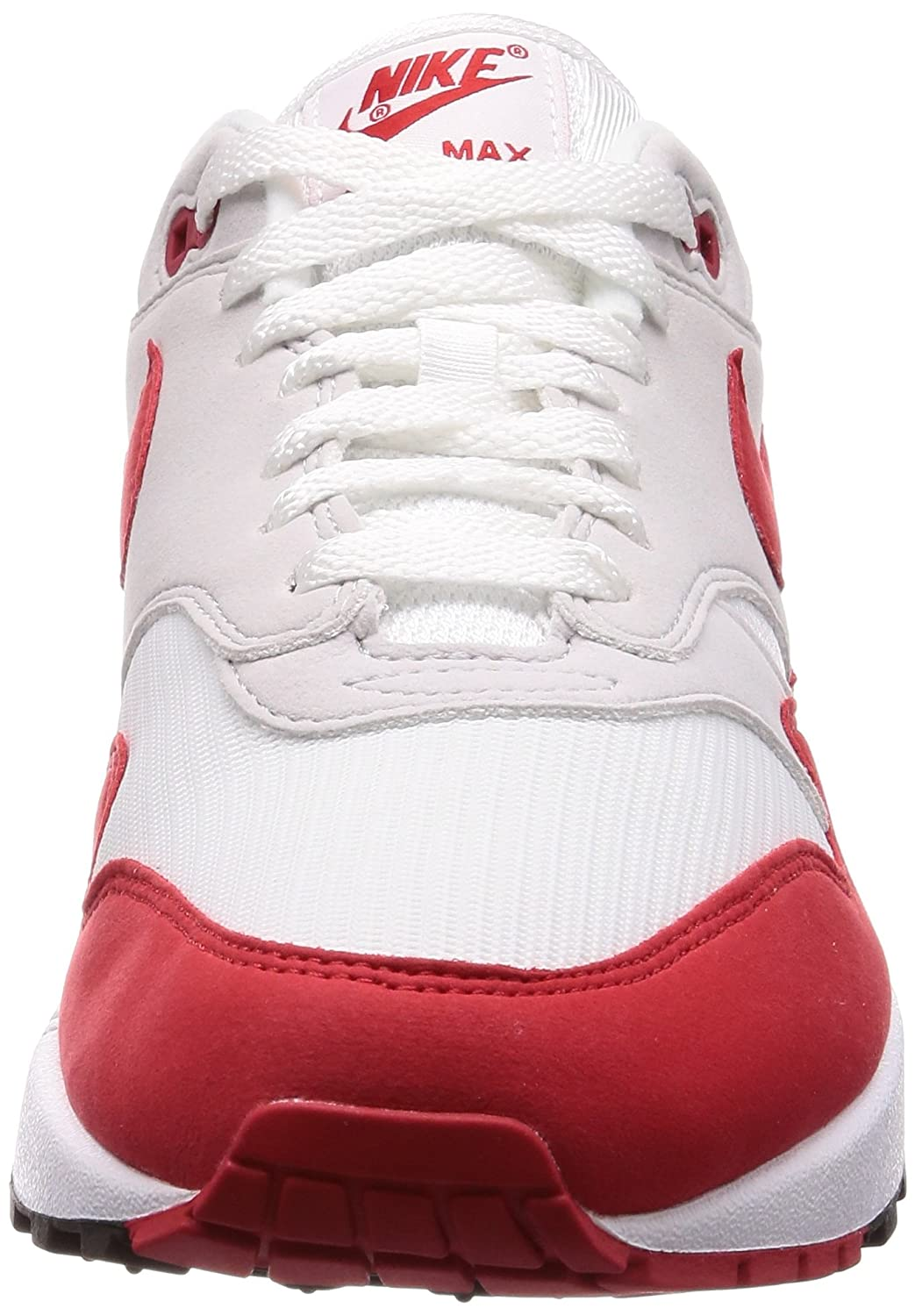 low priced 80b5b 542fc Nike Air Max 1 Anniversary OG - White University Red Trainer  Amazon.co.uk   Shoes   Bags