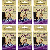 Spiffies Toothwipes, Grape Flavor, 20 Count (Pack of 6)