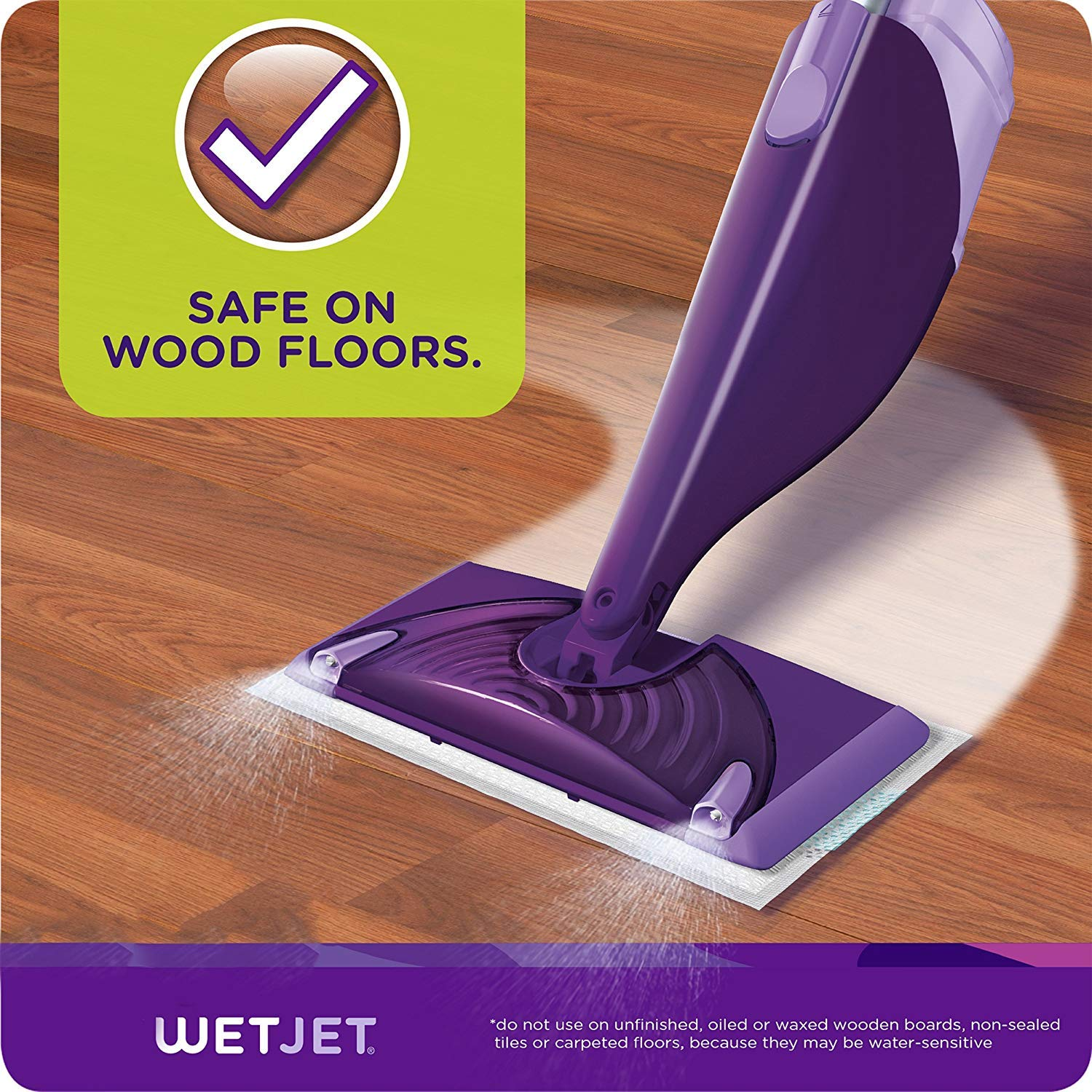 Swiffer Wetjet Hardwood Mop Pad Refills for Floor Mopping and Cleaning, All Purpose Multi Surface Floor Cleaning Product, 24 Count - 5 Pack by Swiffer (Image #4)