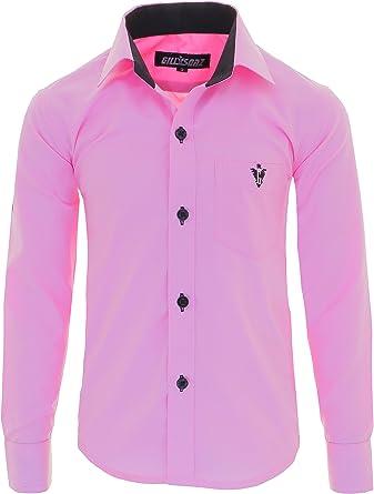 GILLSONZ - Camisa - Clásico - para niño Rosa 92/98 cm: Amazon.es: Ropa y accesorios