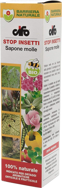 Cifo - Jabón blando formulado para áfidos y arañas. Protección para Plantas, Frutas, Hortalizas y hierbas aromáticas–200ml