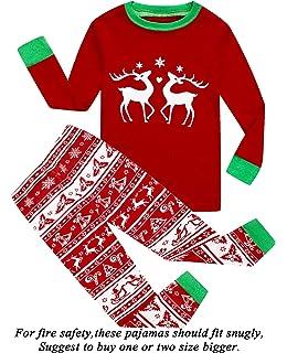 ad03583f15 Boys and Girls Christmas Pajamas 100% Cotton Toddler Pjs Long Sleeve Kid  Sleepwear Sets